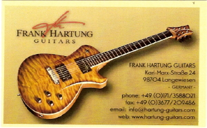 Frank Hartung Guitars